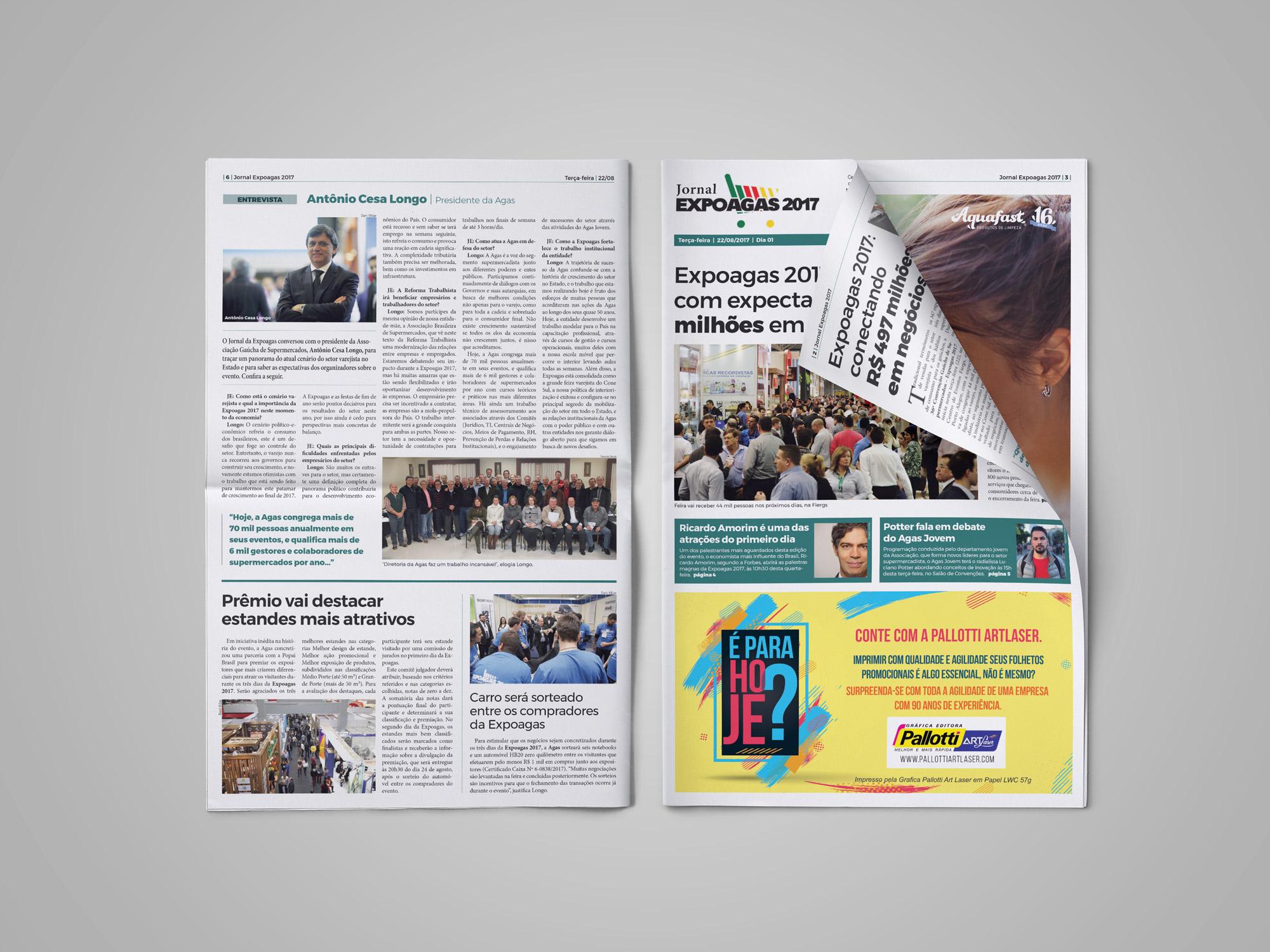 Jornal Expoagas - edição 2017 - capa