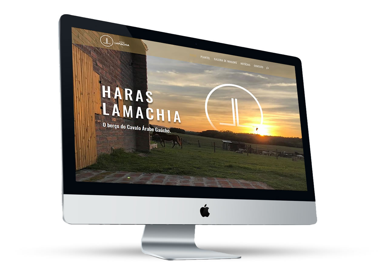 Site Haras Lamachia - homepage