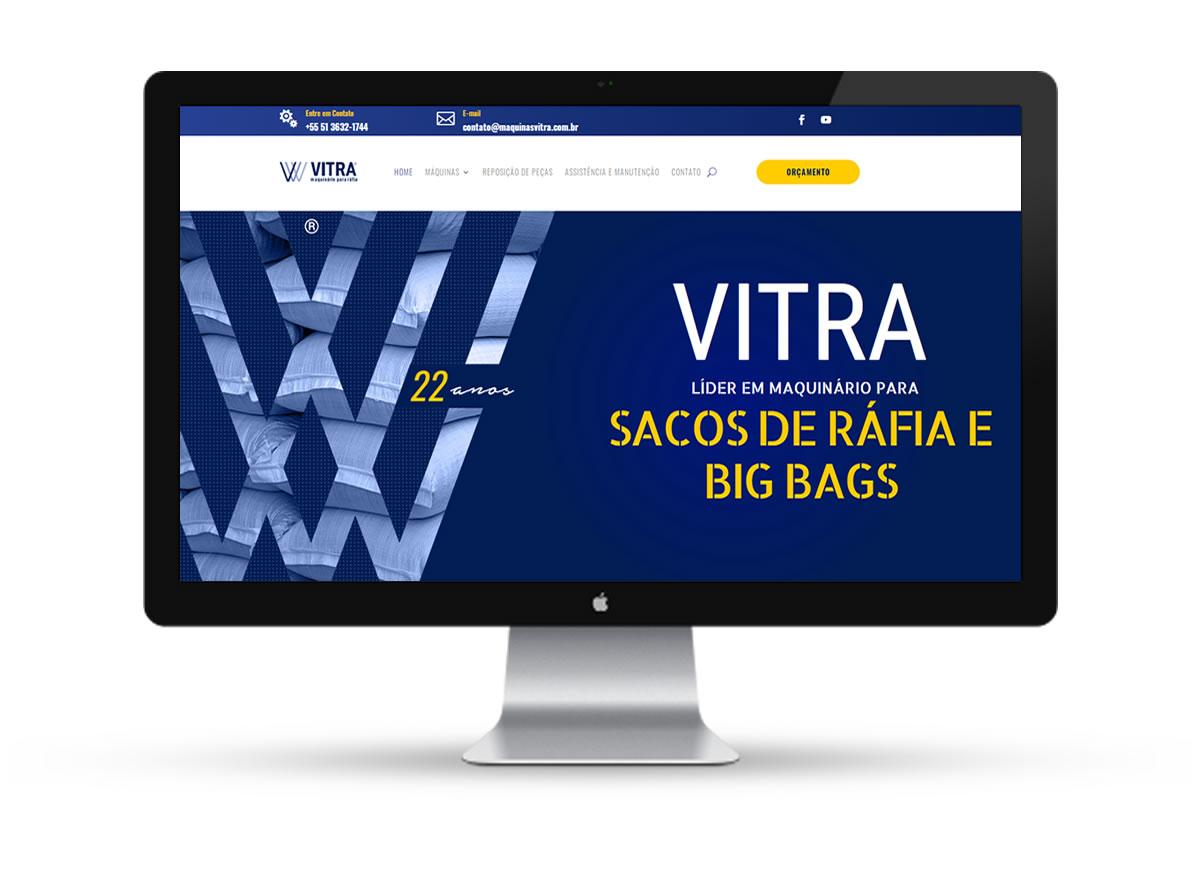 Site Máquinas Vitra - homepage